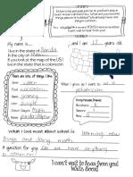 pen pal sample letters