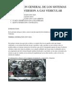 Descripcion General de Los Sistemas de Conversion a Gas Vehicular