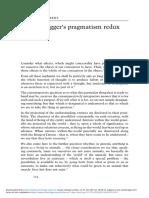 Heideggers Pragmatism Redux