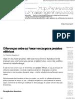 Diferenças Entre as Ferramentas Para Projetos Elétricos