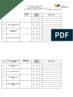 Control de Asistencia a Examen Remedial