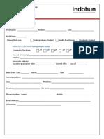 Application Form Regular