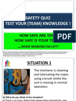 Safety Quizz - How Safe Are You