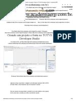 Criando Um Projeto e Fonte No TOTVS Developer Studio - Academia ERP