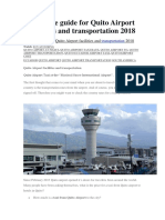 Ultimate Guide for Quito Airport Facilities and Transportation 2018
