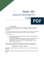 Partie 3 Assainssement Urbain