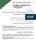 Khutbah Jumaat 22 Safar 1437H Bersamaan 04 Disember 2015