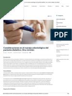 Consideraciones en El Manejo Odontológico Del Paciente Diabético. Una Revisión _ Matias San Martin