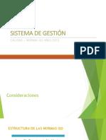 Sistema de Gestión Calidad 9001:2015