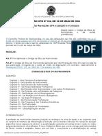 Resolução Cfn334_04 Código de Ética