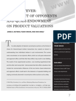 Auction Fever - The Effect of Opponents and Quasi-Endowment on Product Valuations