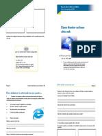 instrucciones diseño sitio web