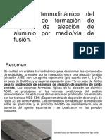 Análisis Termodinámico Espumas de Aluminio