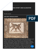 Ancient Roman Sport and Gladiator Contests