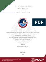 Bardales Pereyra El Programa Beca 18 Como Instrumento de Igualdad de Oportunidades e Inclusion Social Para La Realizacion de La Vocacion Profesional