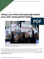 Türkiye, Çin Ve Mısır Için Baskıcılığın Bedeli Ucuz, Rekor Sayıda Gazeteci Hapiste - Committee to Protect Journalists