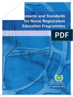 Requirements and Standards for Nurse Registration Education Programmes 3rd E