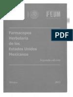 Farmacopea Herbolaria de Los Estados Unidos Mexicanos Segunda Edicion 2013