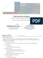 Thermal-stress Analysis Theory and Practices - Predictive Engineering White Paper