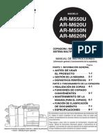 Manual Usuario Sharp AR-M 550U