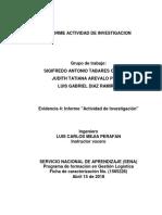 Evidencia 4 Informe Actividad de Investigación