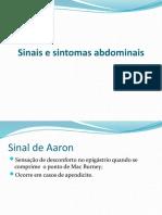 Sinais e Sintomas Abdominais