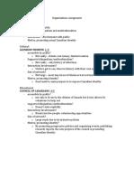 Organizations Assignment