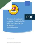 Ingeniería Económica - Trabajo de Investigacion Unidad 1