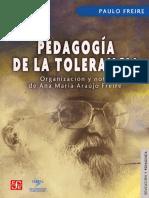 Freire_Pedagogía de La Tolerancia