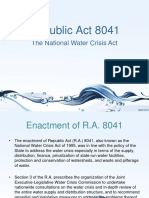 The National Water Crisis Act of 1995.Pptx