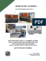 TECNOLOGÍA DE FABRICACIÓN DE METALES