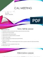 Technical Meeting POR