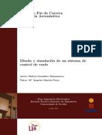 Diseño y Simulación de Un Sistema de Control de Vuelo