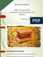 Trainee Characteristics slides HRD