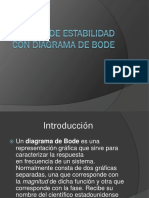 Análisis de Estabilidad Con Diagrama de Bode