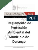 328 Reglamento de Proteccion Ambiental Del Municipio de Dgo