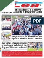 Periódico Lea Jueves 19 de Abril Del 2018