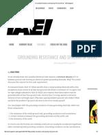 Grounding Resistance and Spacing of Ground Rods ‹ IAEI Magazine