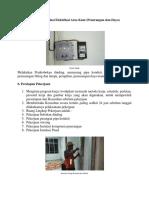 Metode Pekerjaan Instlasi Elektrikal Arus Kuat