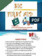 Basic First Aid Presentation