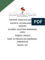 Ensayo Didactica General