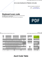 A Quick Reference Guide to Ascii, Keyboard & Windows Alt Codes
