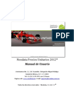 Neodata Precios Unitarios 2012 Manual De
