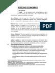 DERECHO ECONOMICO Definiciones y Principios