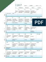 calendar of class trips