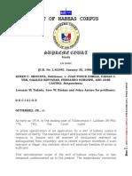 Writ of Habeas Corpus; Efren Moncupa v Juan Enrile