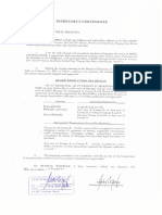Certified True Copy of RSB Sec. Cert.