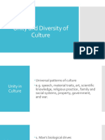 Unity and Diversity of Culture