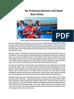 Alasan Semakin Praktisnya Bermain Judi Sepak Bola Online