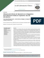 Influencia del informe de laboratorio en el diagnósticode la disfunción tiroidea en la gestante